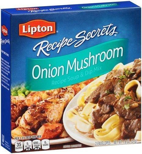 Lipton Onion Soup Mix Recipe  Lipton Recipe Secrets ion Mushroom Soup & Dip Mix