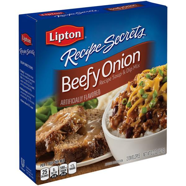 Lipton Onion Soup Mix Recipe  Lipton Recipe Secrets Beefy ion Recipe Soup & Dip Mix