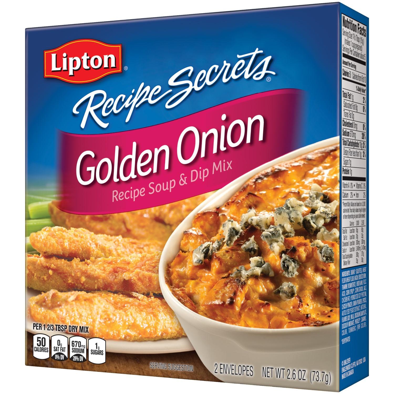 Lipton Onion Soup Mix Recipe  Lipton Recipe Secrets Golden ion Soup and Dip Mix 2 6 Oz