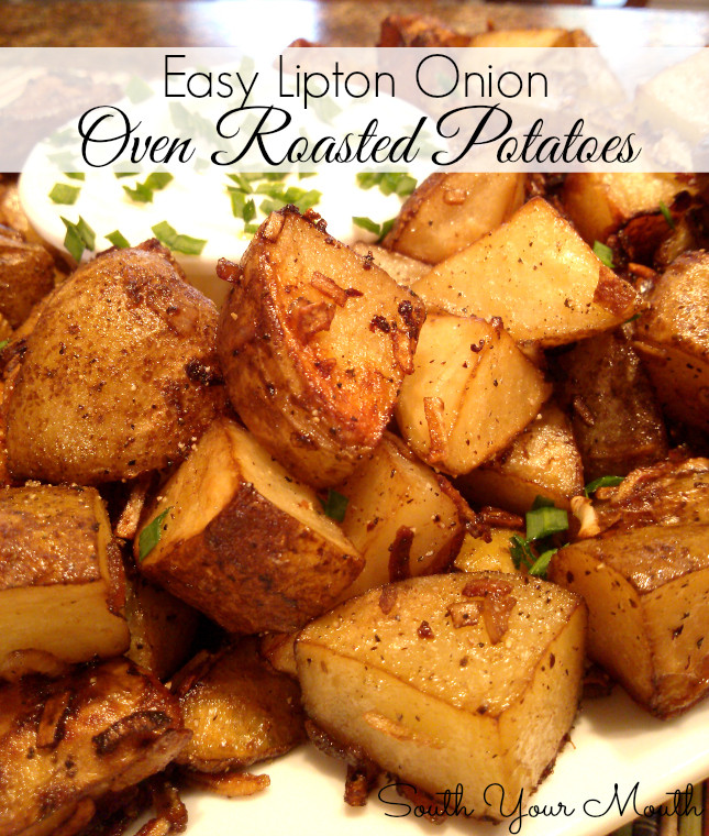 Lipton Onion Soup Potatoes  South Your Mouth Easy Lipton ion Roasted Potatoes