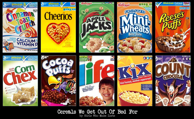 List Of Breakfast Cereals  Cereals We Get Out Bed For