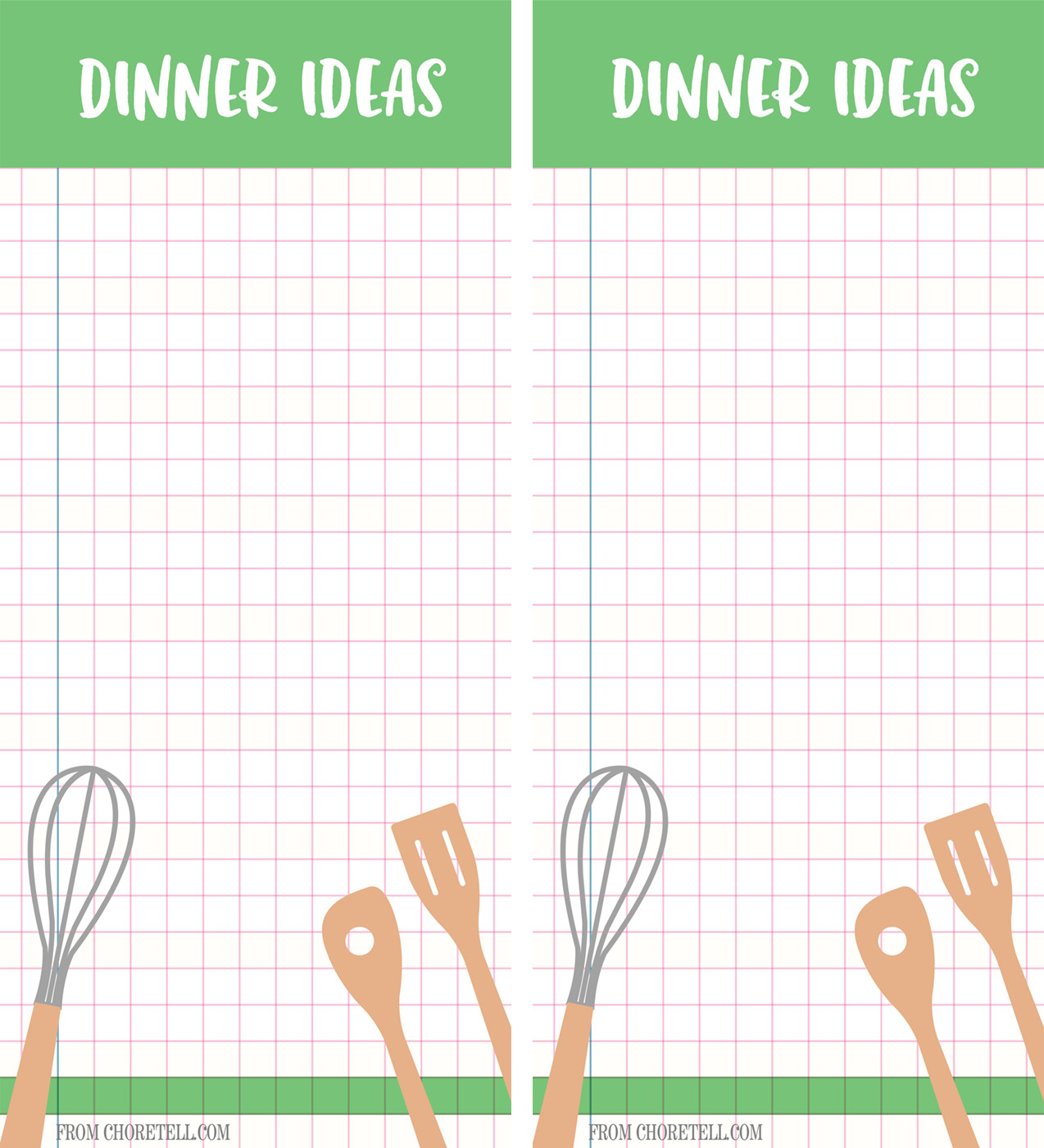 List Of Dinner Ideas  Dinner ideas printable list Free printable s