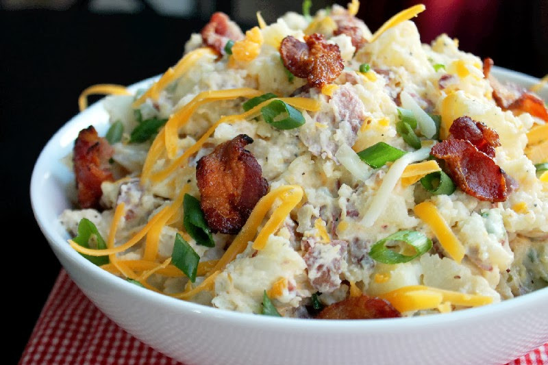 Loaded Baked Potato Salad  Loaded Baked Potato Salad Creole Contessa