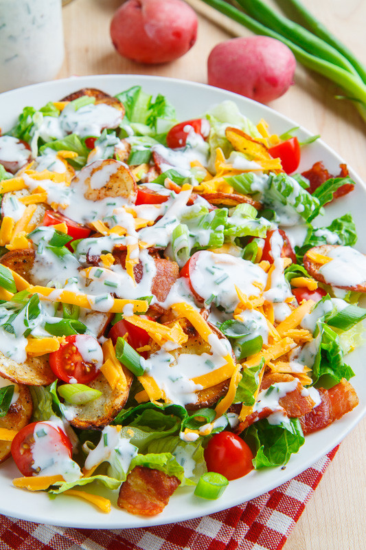 Loaded Baked Potato Salad  Loaded Baked Potato Salad on Closet Cooking