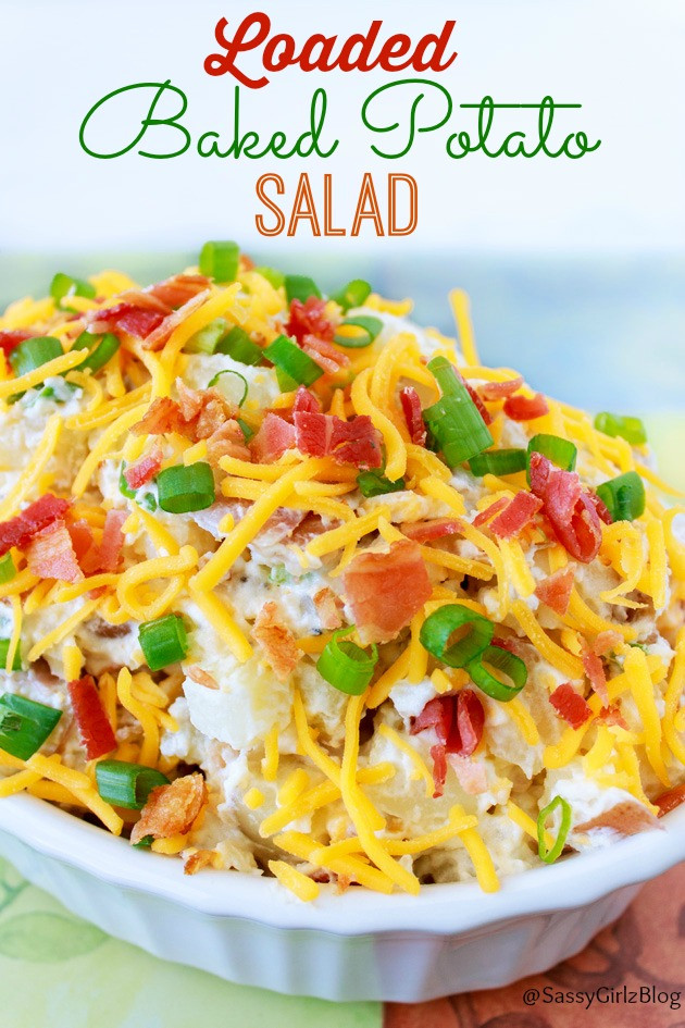 Loaded Baked Potato Salad  Easy Loaded Baked Potato Salad Recipe And BACON