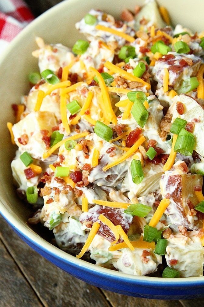 Loaded Baked Potato Salad  Loaded Baked Potato Salad Southern Bite