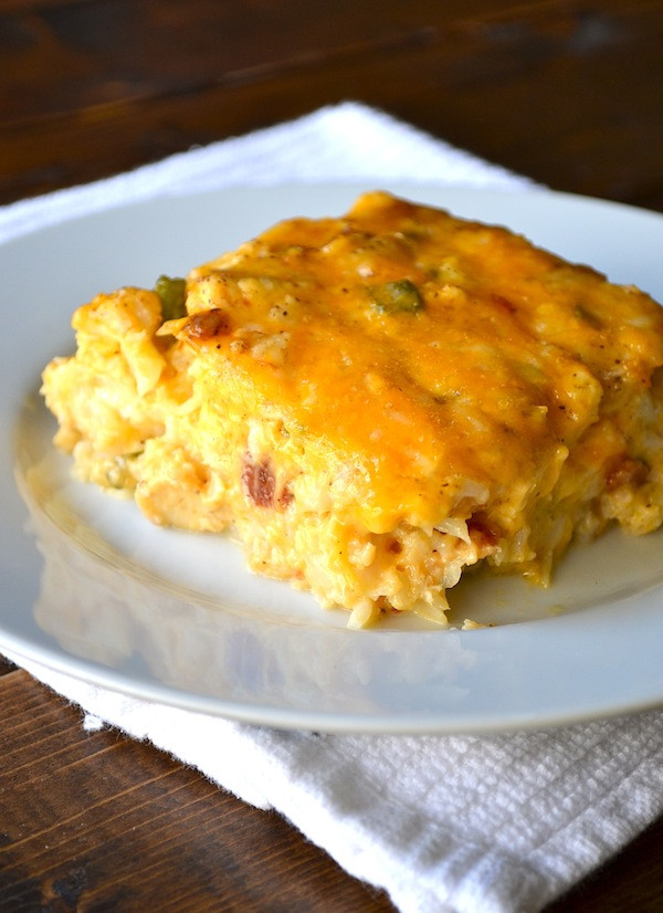 Loaded Cauliflower Casserole  Rachel Schultz LOADED CAULIFLOWER & CHICKEN CASSEROLE