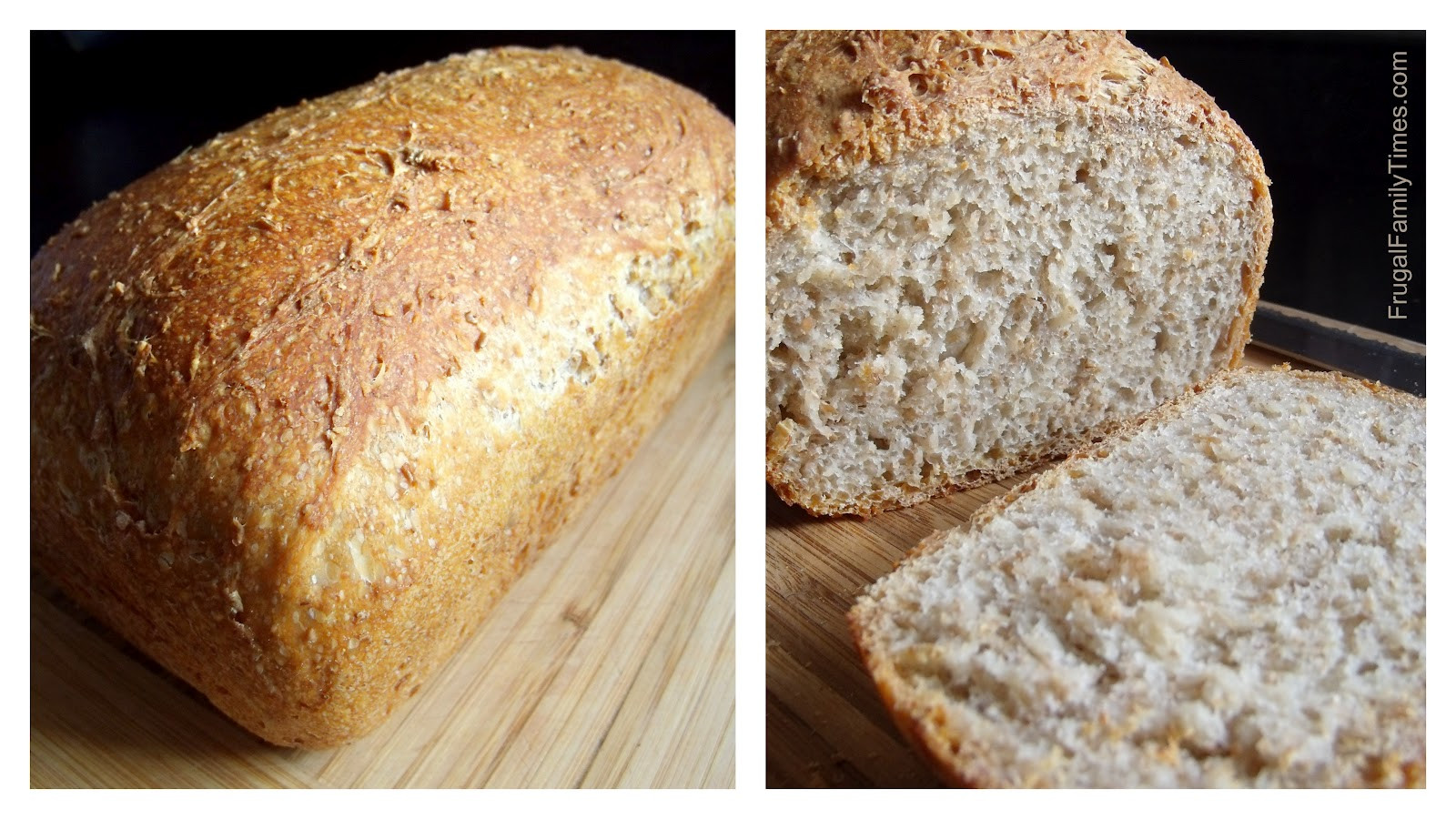 Loaf Bread Recipe  No Knead Quick and Simple Sandwich Style Bread Loaf