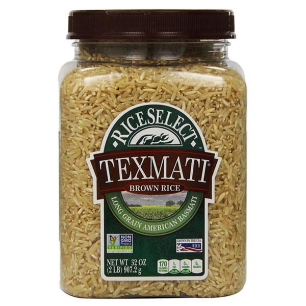 Long Grain Brown Rice  RiceSelect Long Grain American Basmati Texmati Brown Rice