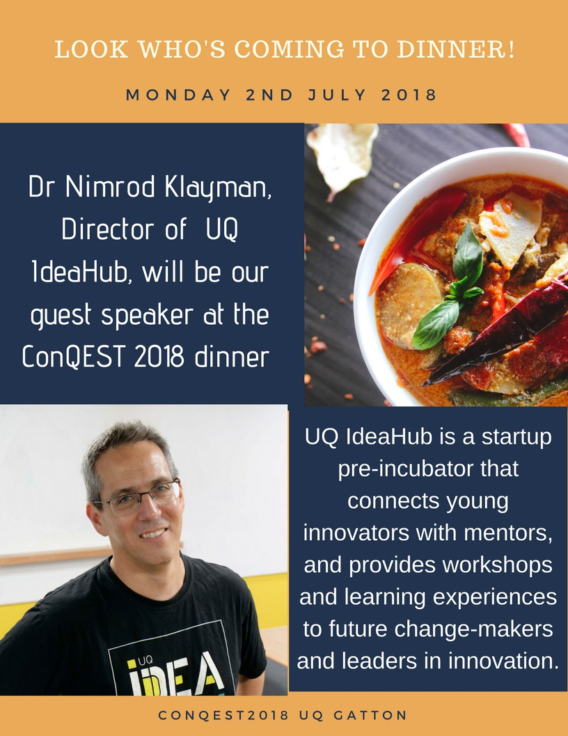 Look Whos Coming To Dinner  ConQEST2018 – Look who's ing to dinner – Queensland