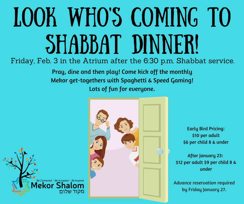Look Whos Coming To Dinner  Congregation Mekor Shalom