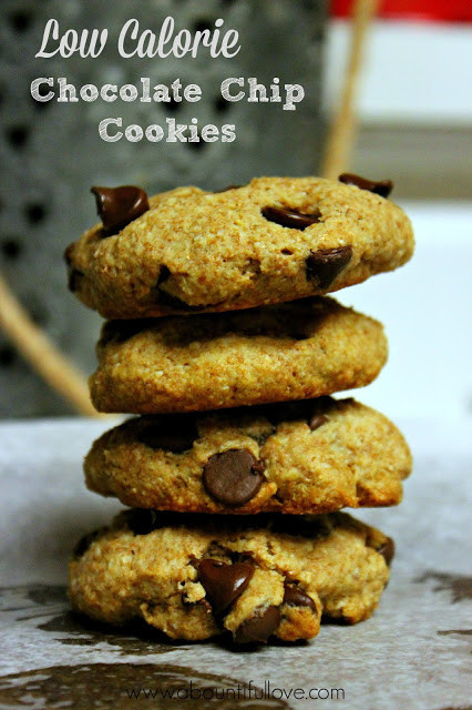 Low Calorie Chocolate Chip Cookies  A Bountiful Love Low Calorie Chocolate Chip Cookies