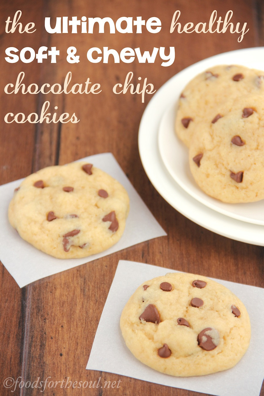 Low Calorie Chocolate Chip Cookies  The Ultimate Healthy Soft & Chewy Chocolate Chip Cookies
