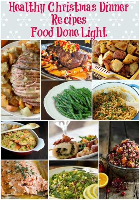 Low Calorie Dinners  Healthy Christmas Dinner Recipes Low Calorie Low Fat Pin