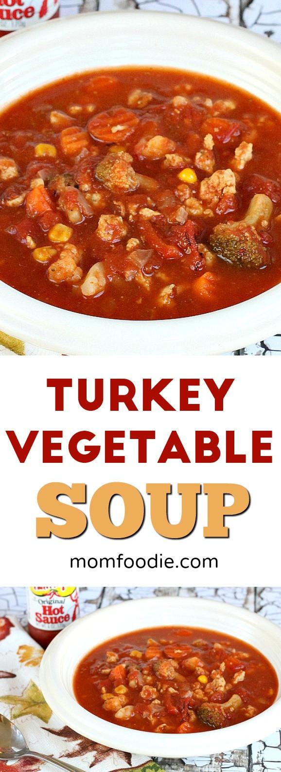 Low Calorie Ground Turkey Recipes  Turkey Ve able Soup Recipe an easy low calorie soup