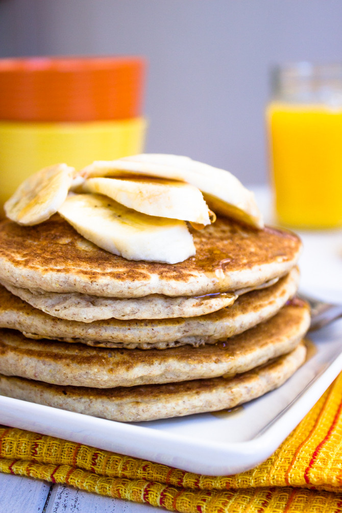 Low Calorie Pancakes  Healthy Low fat Whole Wheat Banana Pancakes