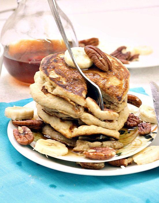Low Calorie Pancakes  Low calorie vegan Stack of pancakes and Pancake recipes