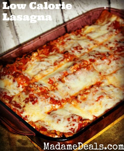 Low Calorie Recipes  Low Calorie Low Calorie Lasagna Recipe