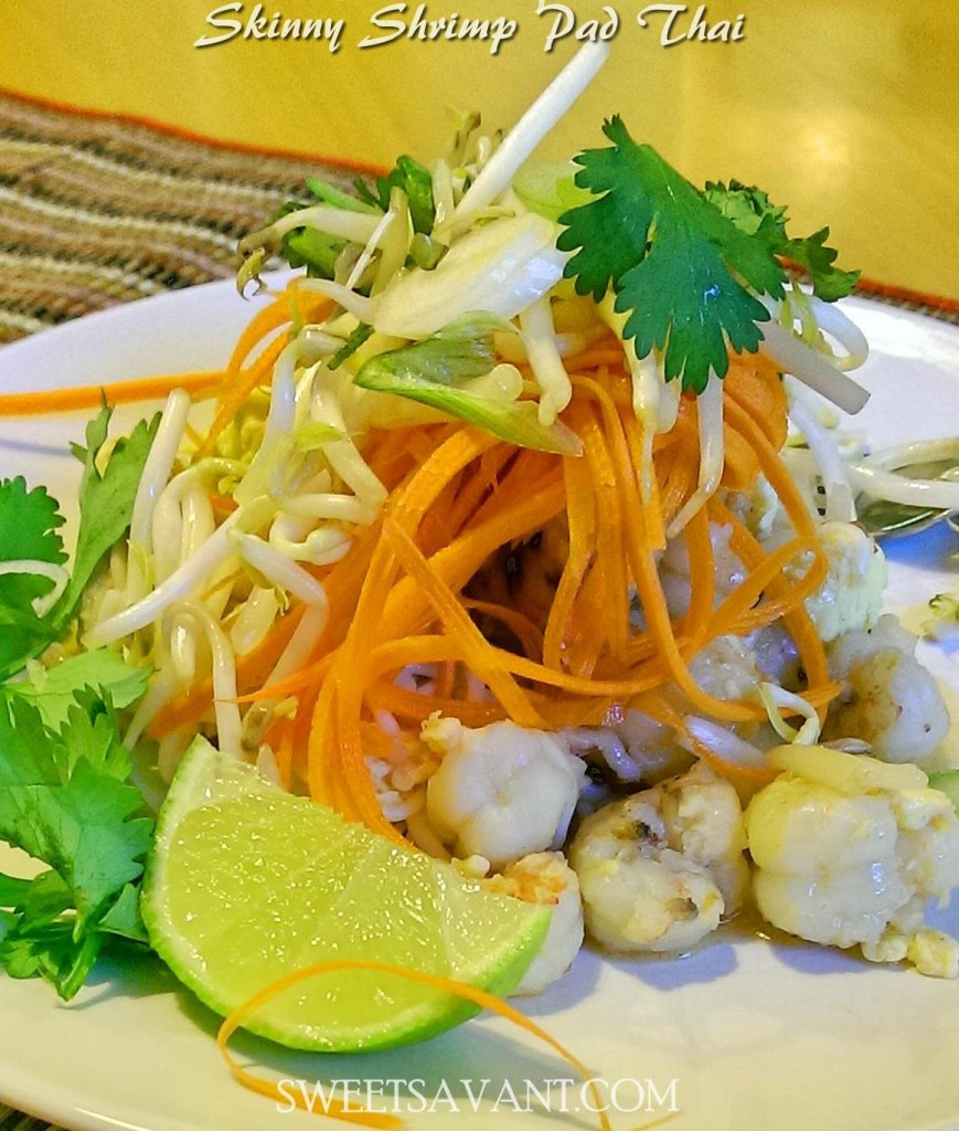 Low Calorie Shrimp Recipes  Skinny Shrimp Pad Thai Low Calorie Low Carb Gluten FREE