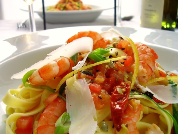 Low Calorie Shrimp Recipes  Easy Spicy Shrimp Pasta Low Fat Recipe Food