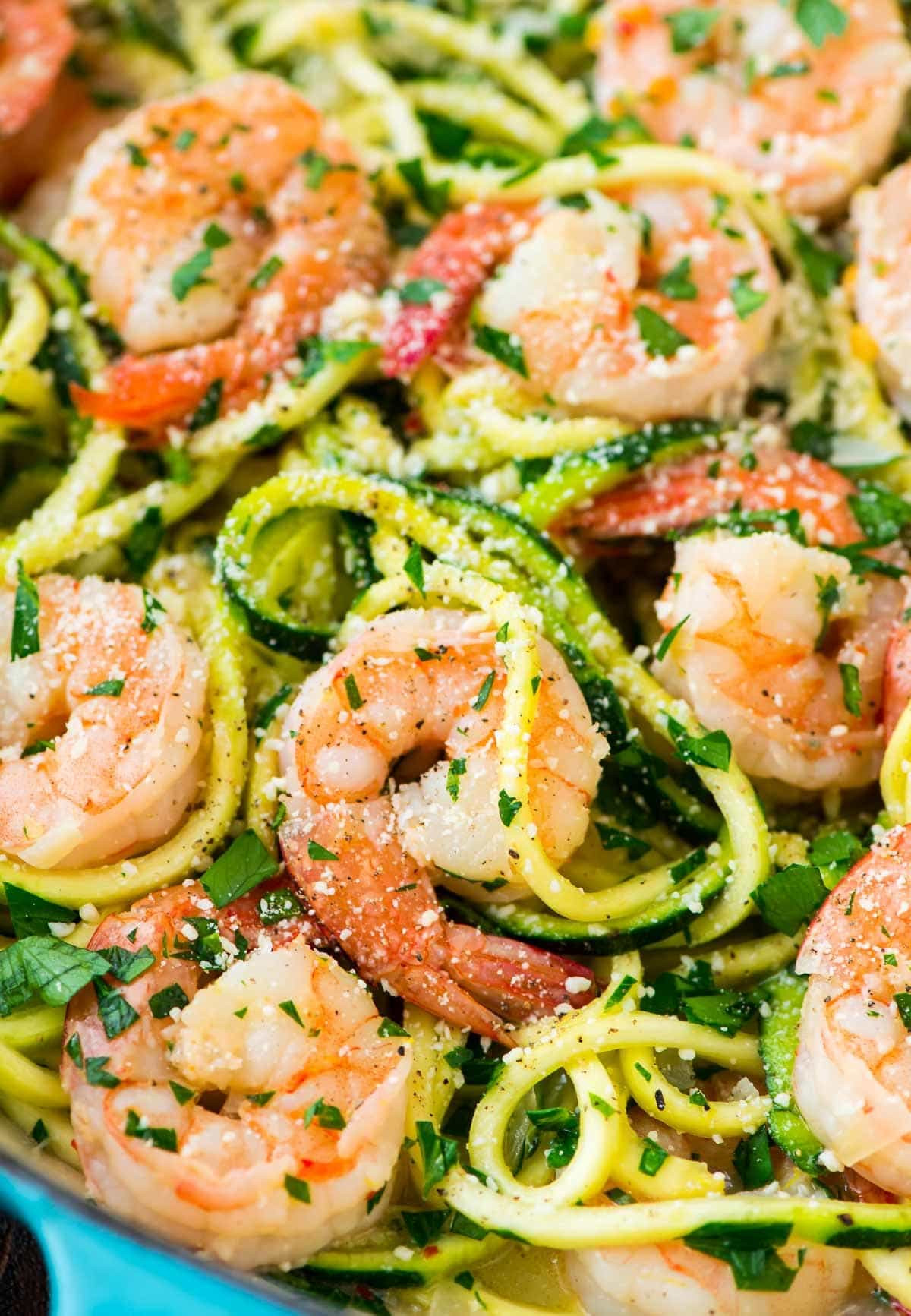 Low Calorie Shrimp Recipes  Healthy Shrimp Scampi with Zucchini Noodles