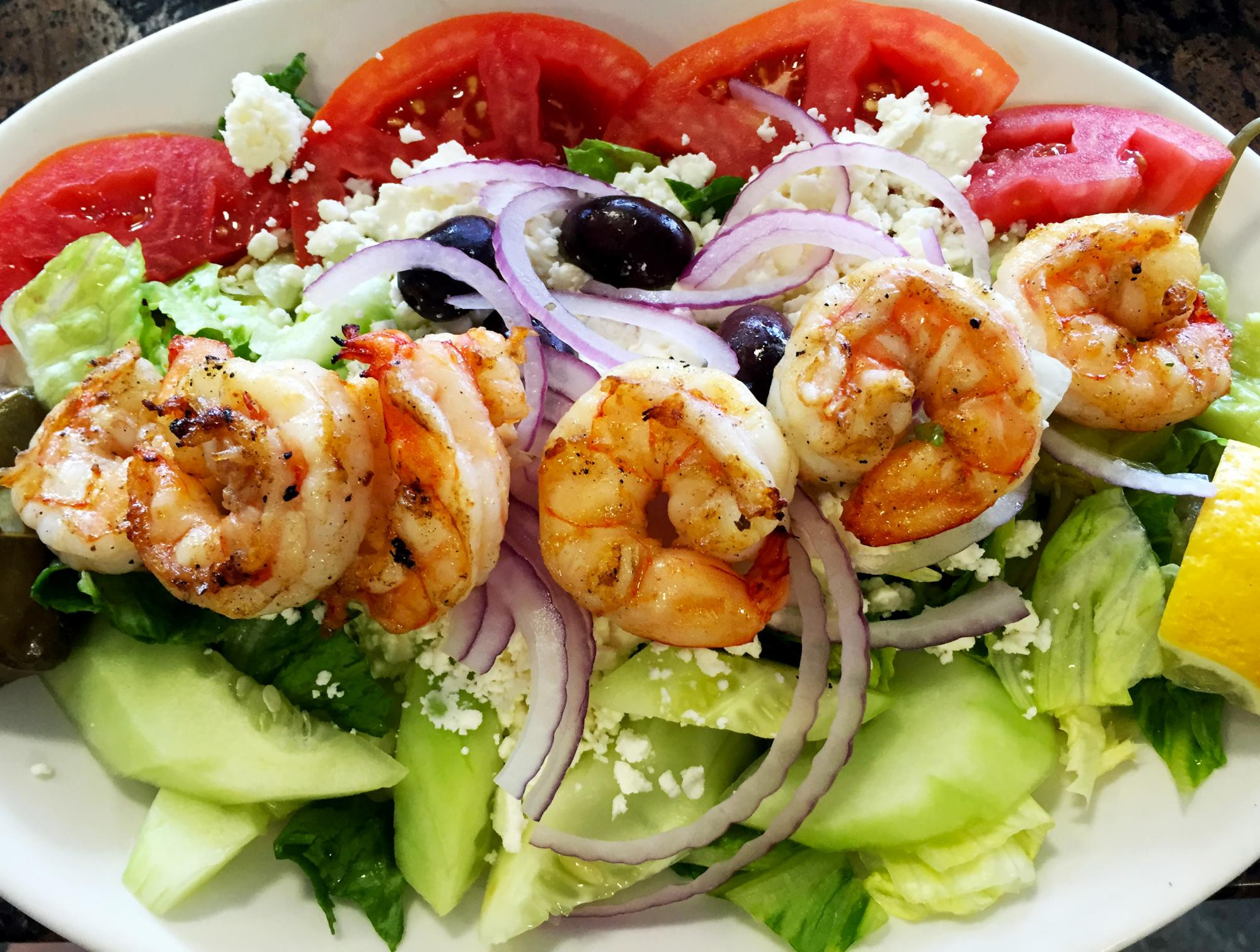 Low Calorie Shrimp Recipes  Low Calorie Post Workout Recipe Greek Salad with Grilled