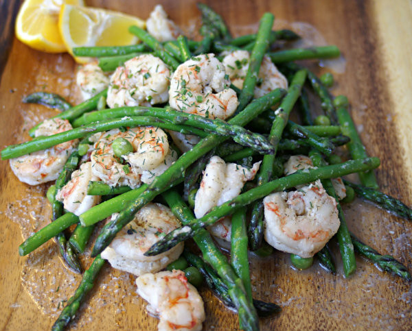 Low Calorie Shrimp Recipes  Low Calorie Garlic Shrimp with Asparagus