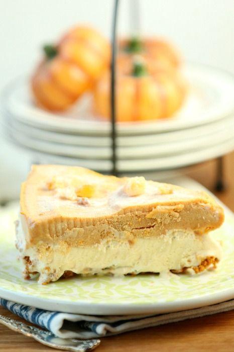 Low Calories Desserts  Frosty Pumpkin Ice Cream Pie Recipe