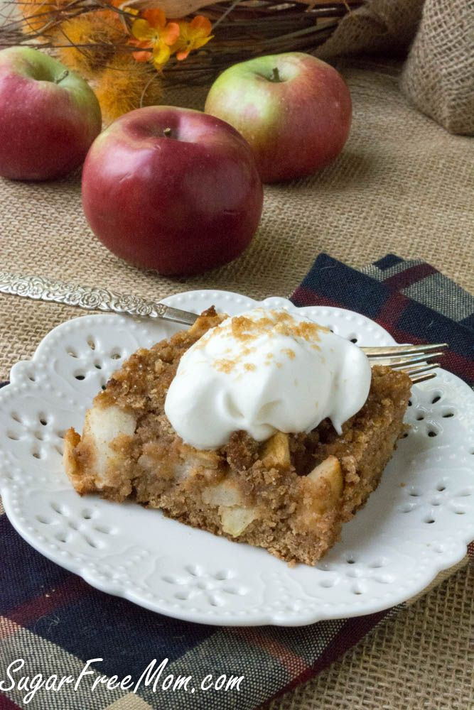 Low Carb Apple Dessert  Low Carb Grain Free Apple Dump Cake Recipe