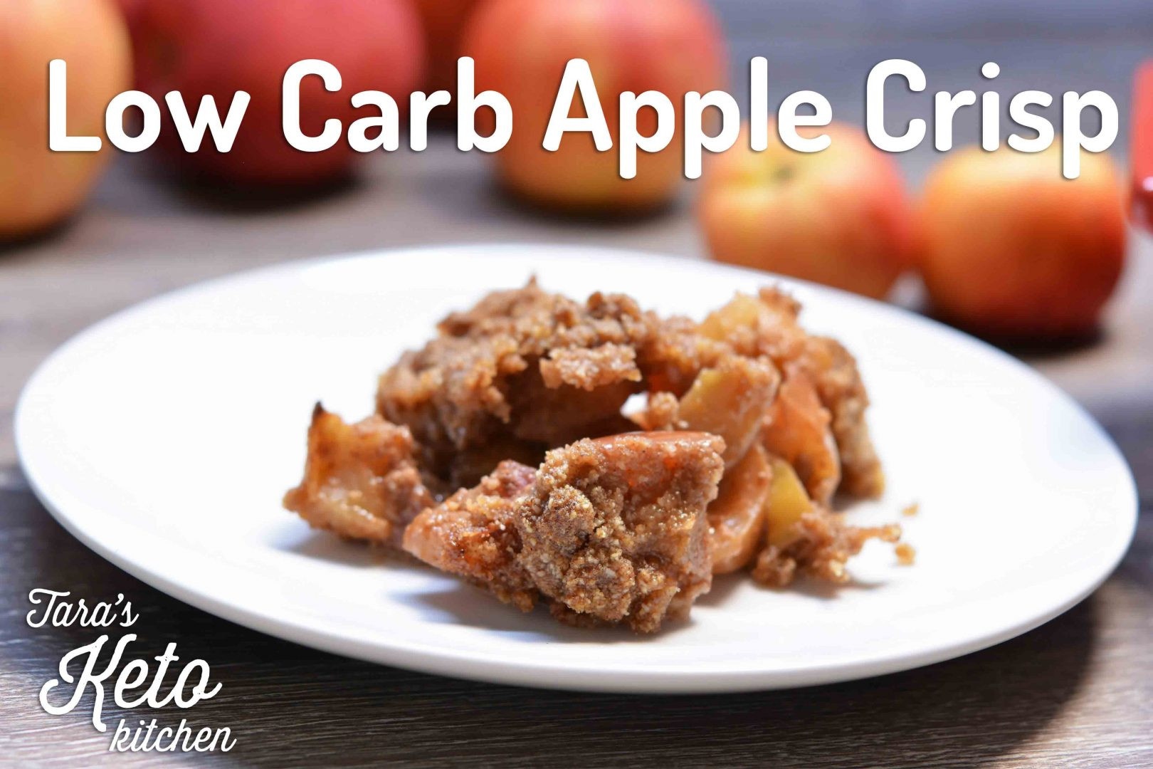 Low Carb Apple Dessert  Low Carb Apple Crisp Recipe Grain Free Added Sugar Free