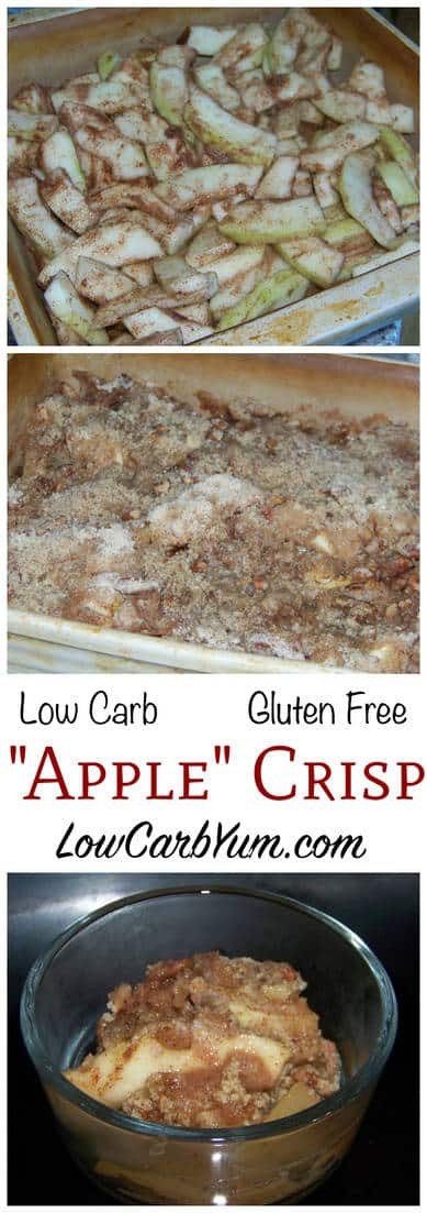 Low Carb Apple Dessert  Mock Apple Crisp from Zucchini