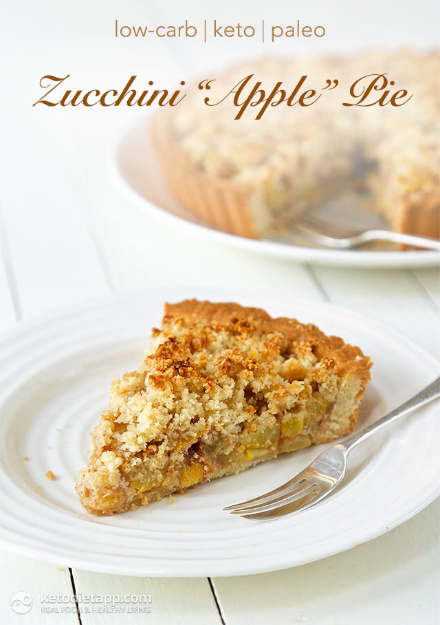 Low Carb Apple Dessert  Low Carb Zucchini Apple Pie