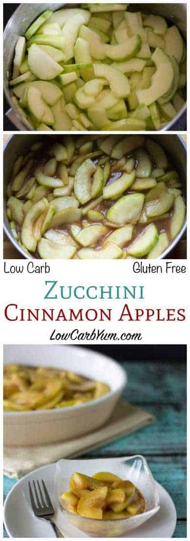 Low Carb Apple Dessert  Low Carb Zucchini Cinnamon Apples