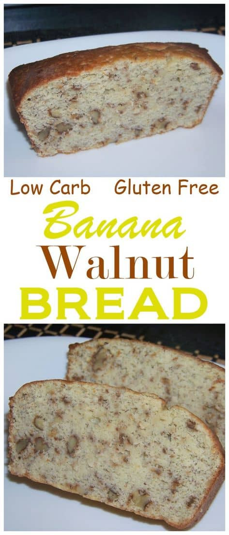 Low Carb Banana Bread  Simple Low Carb Banana Bread Recipe Gluten Free