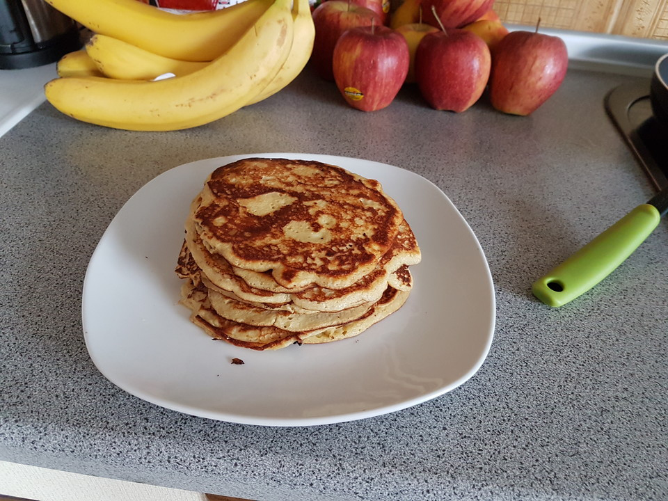 Low Carb Banana Pancakes  Banana Pancakes low carb Rezept mit Bild von