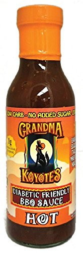 Low Carb Bbq Sauce Brands  Grandma Koyote s Diabetic Friendly Hot Barbecue Sauce 15