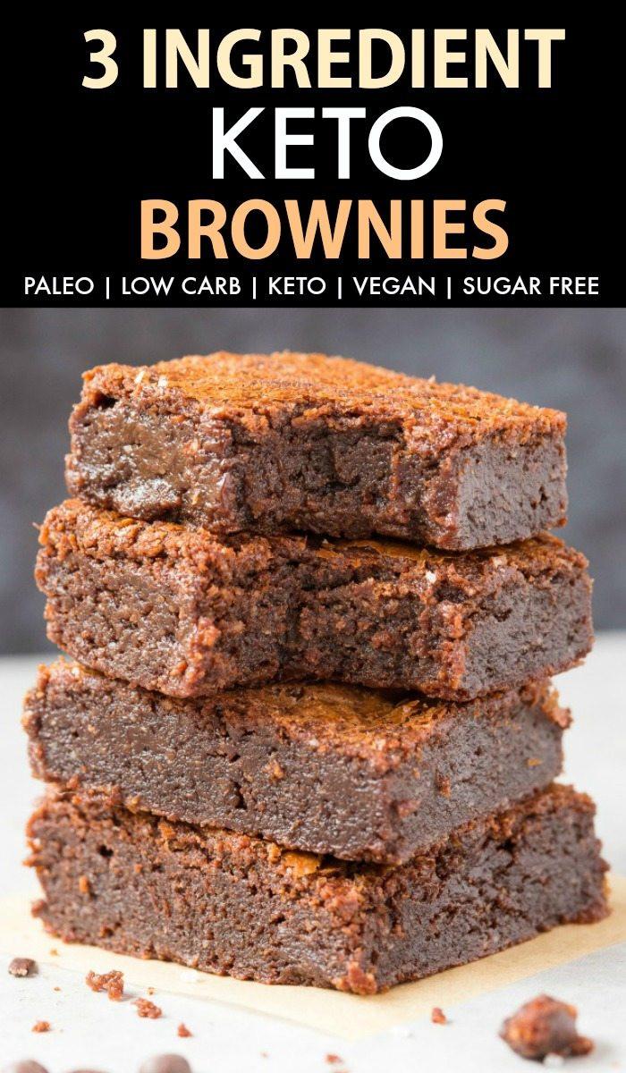 Low Carb Brownies Almond Flour  Fudgy Keto Low Carb Brownies Paleo Vegan Sugar Free