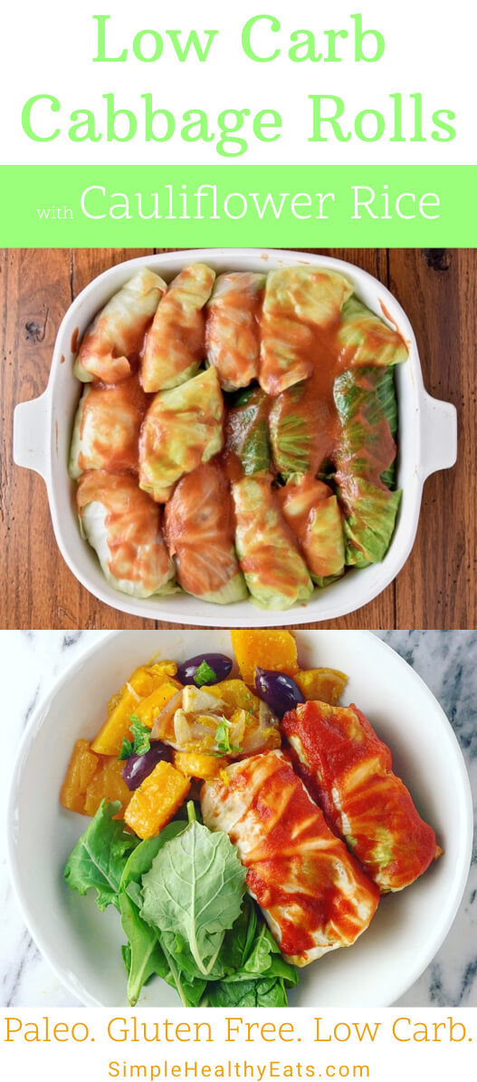 Low Carb Cabbage Rolls  Healthy Stuffed Cabbage Rolls Low Carb Cauliflower Rice