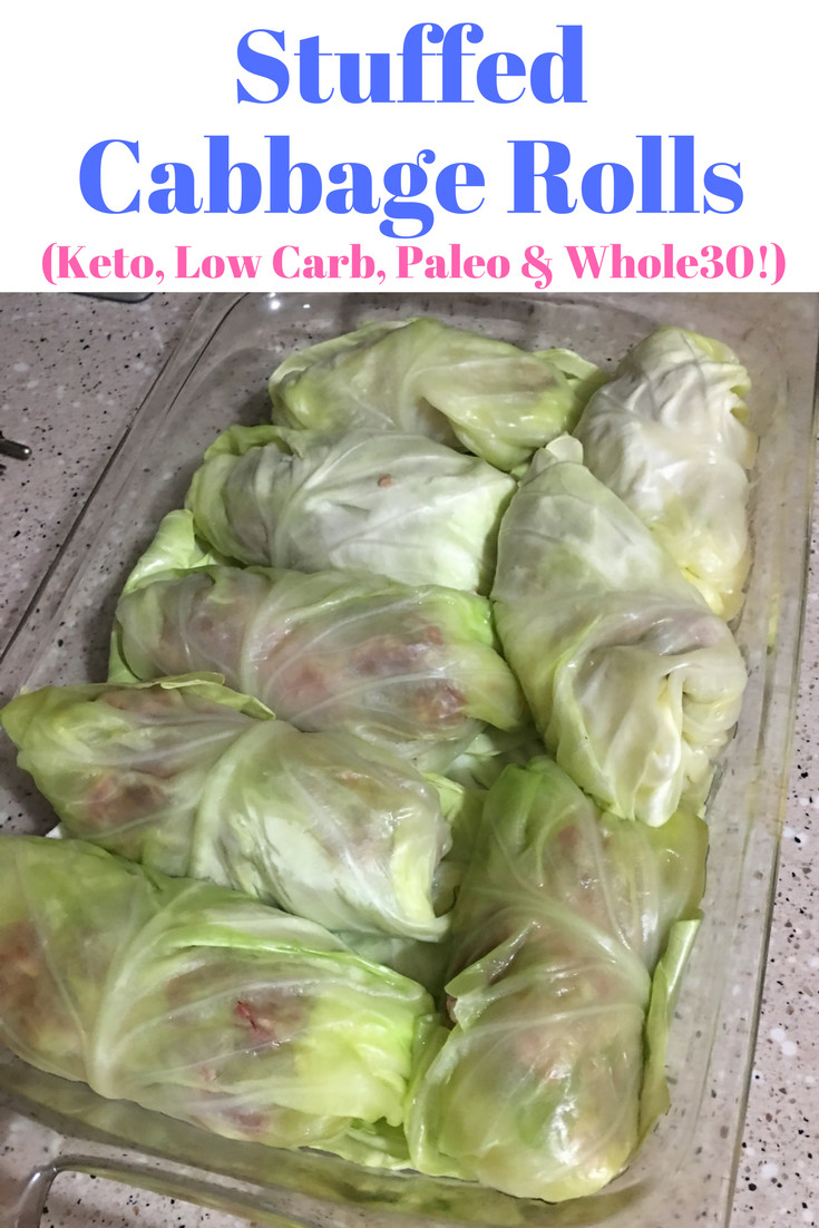 Low Carb Cabbage Rolls  Stuffed Cabbage Rolls Keto Low Carb Paleo & Whole30