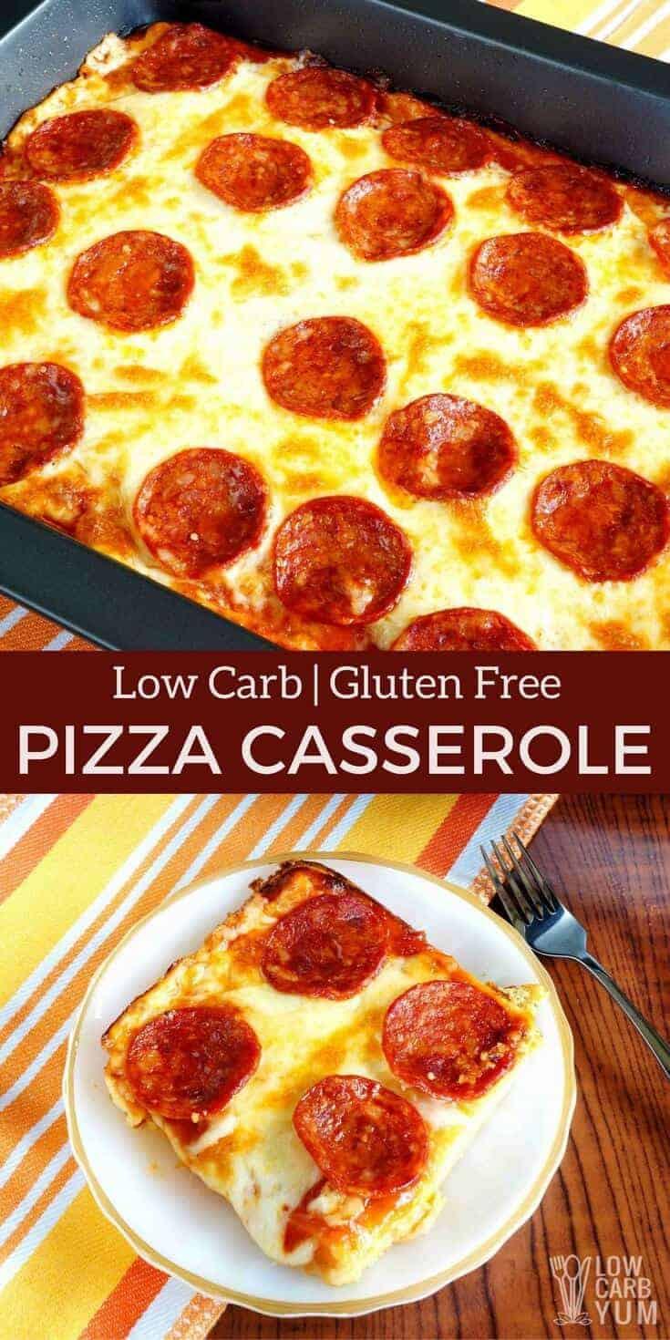Low Carb Casserole Recipes  pizza casserole low carb