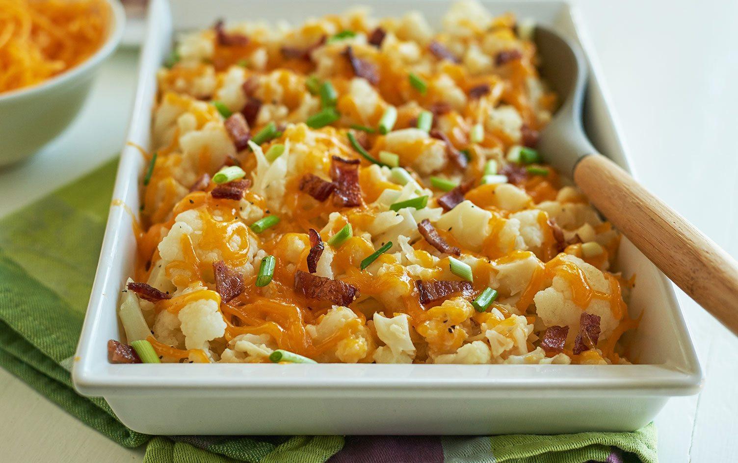 Low Carb Cauliflower Recipes  Recipe Cheesy Low Carb Cauliflower Bake
