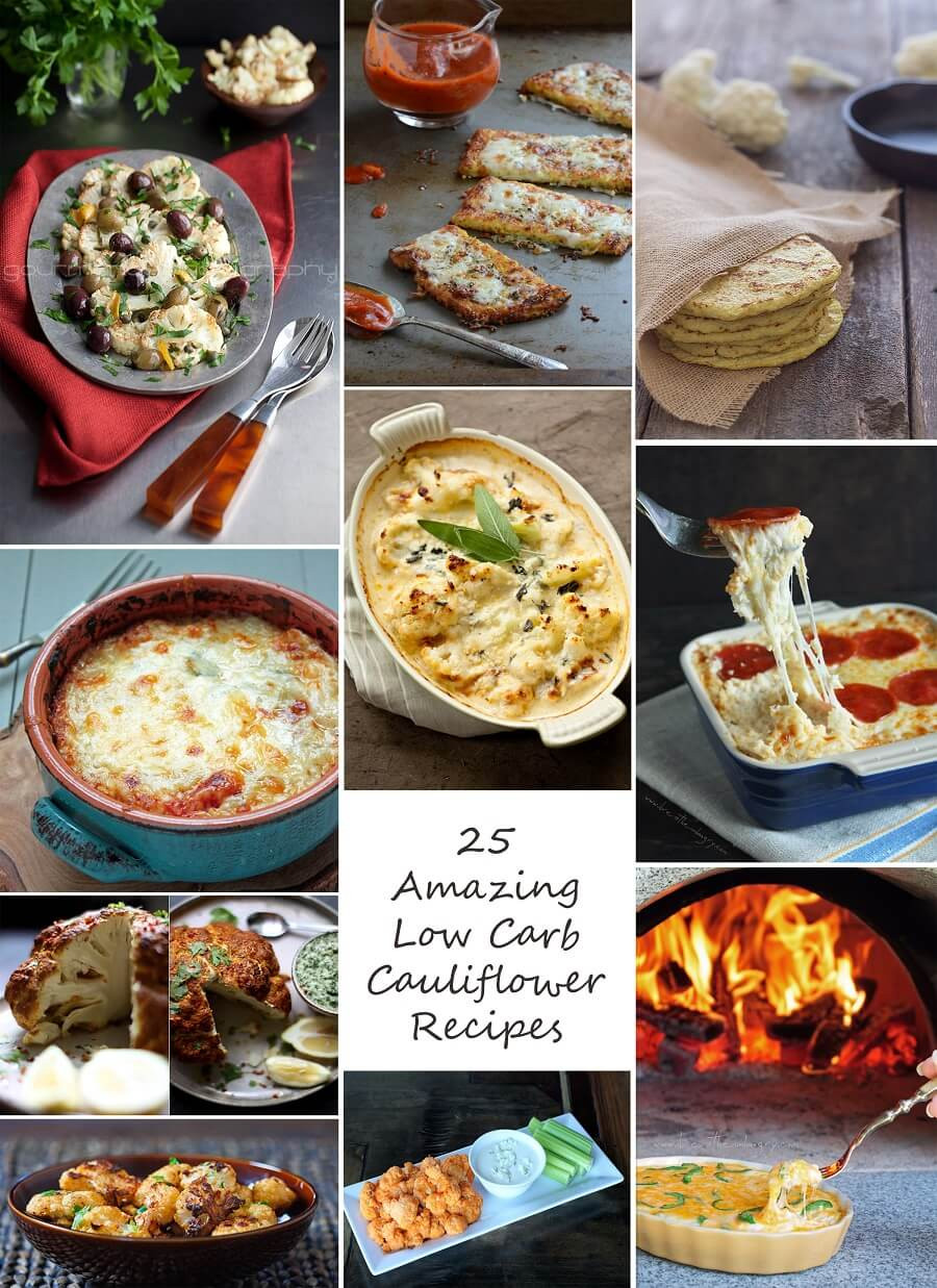 Low Carb Cauliflower Recipes  25 Amazing Low Carb and Gluten Free Cauliflower Recipes
