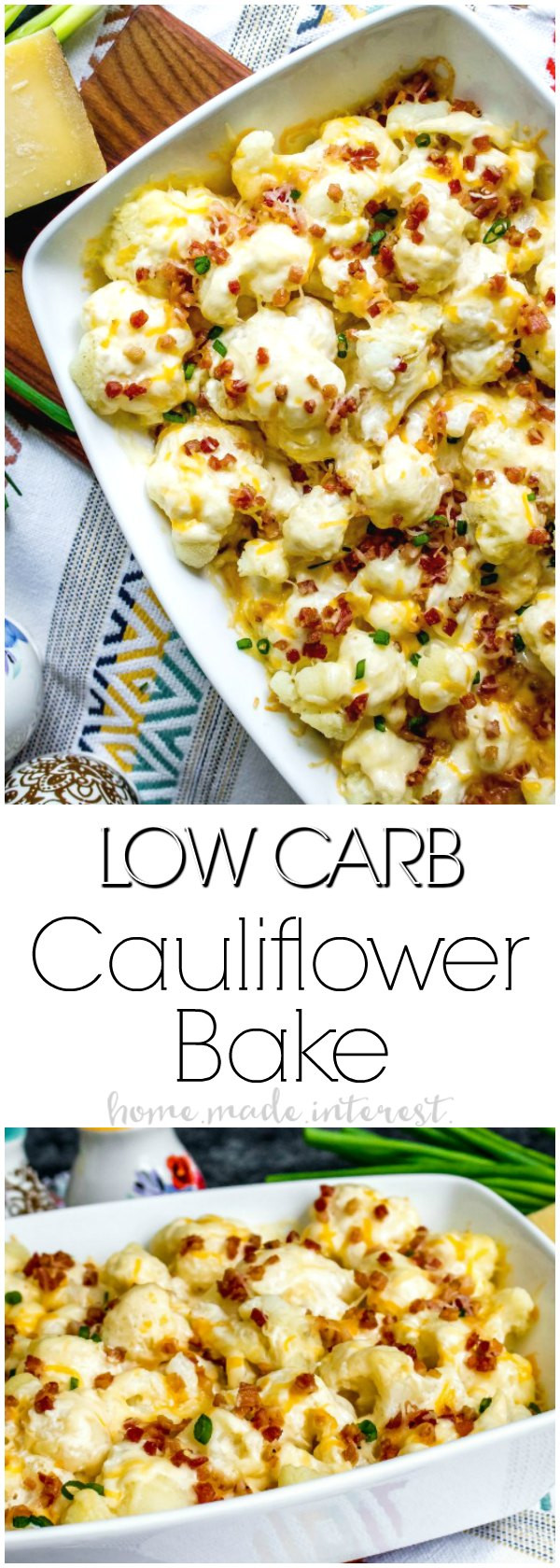 Low Carb Cauliflower Recipes  loaded cauliflower casserole low carb
