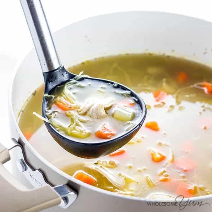 Low Carb Chicken Soup Recipes  Paleo Keto Low Carb Chicken Soup Recipe VIDEO