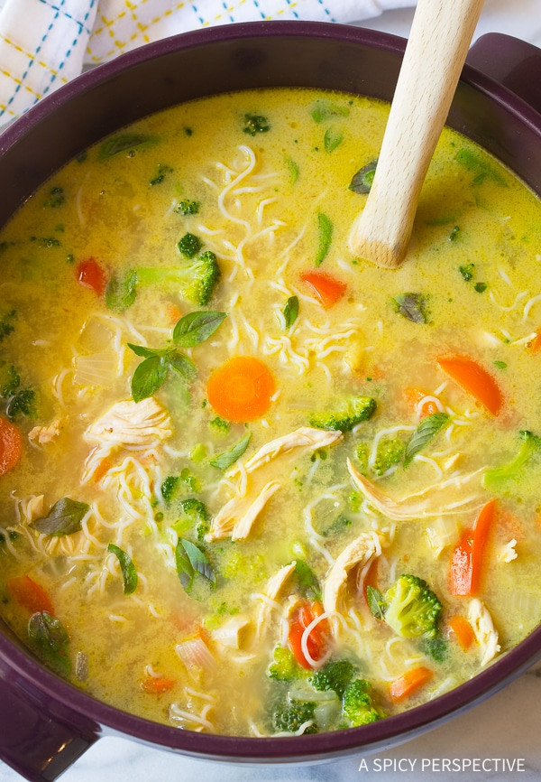 Low Carb Chicken Soup Recipes  Low Carb Green Curry Chicken Noodle Soup A Spicy Perspective