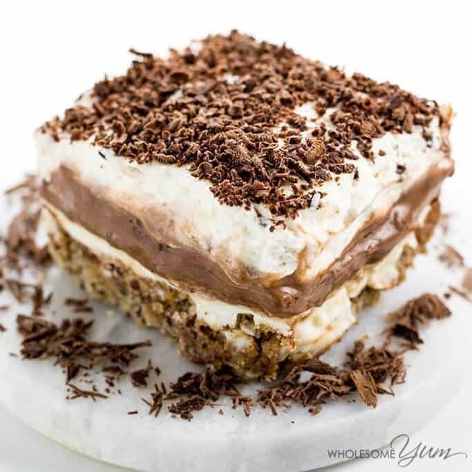 Low Carb Chocolate Desserts  in a Pan Dessert Recipe Sugar free Low Carb Gluten