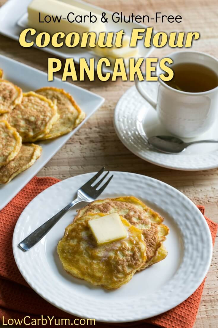 Low Carb Coconut Flour Pancakes  Gluten Free Coconut Flour Pancakes