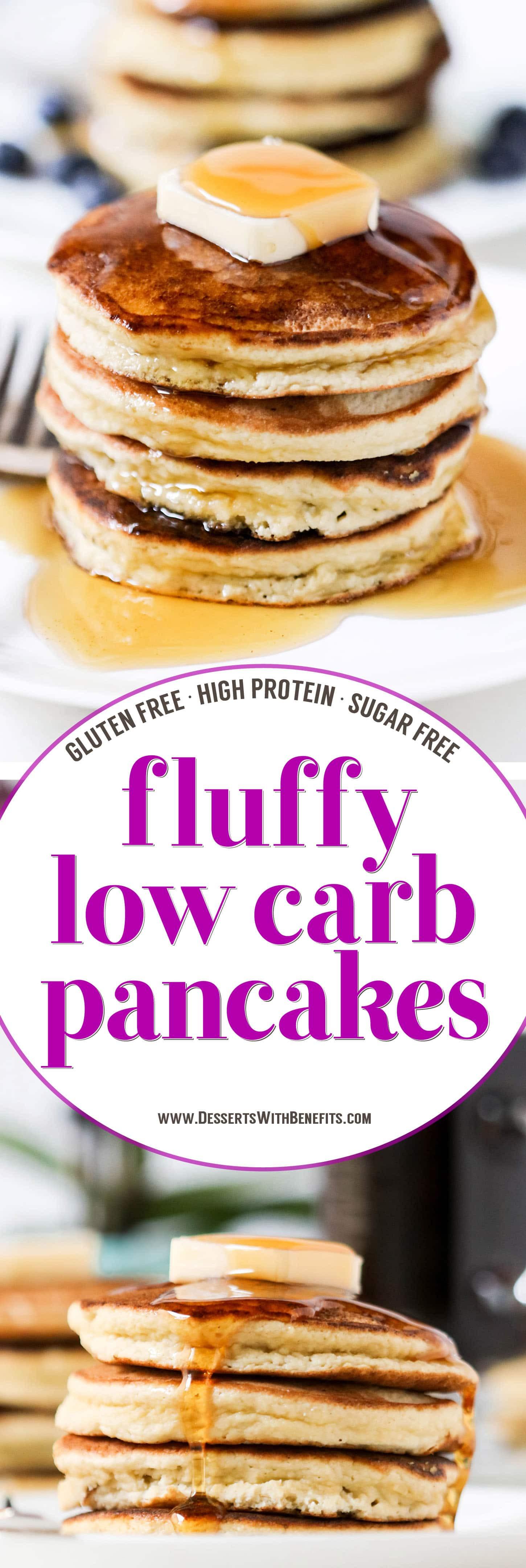 Low Carb Coconut Flour Pancakes  The FLUFFIEST Low Carb Coconut Flour Pancakes Reci