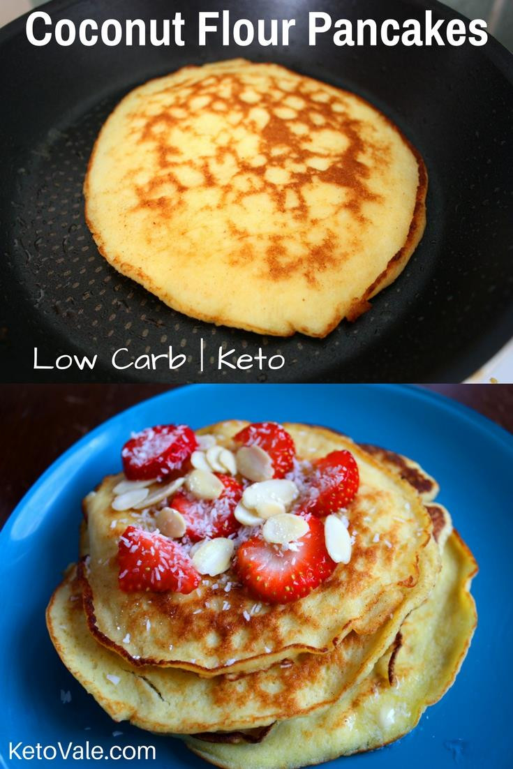 Low Carb Coconut Flour Pancakes  Keto Coconut Flour Pancakes Low Carb Recipe