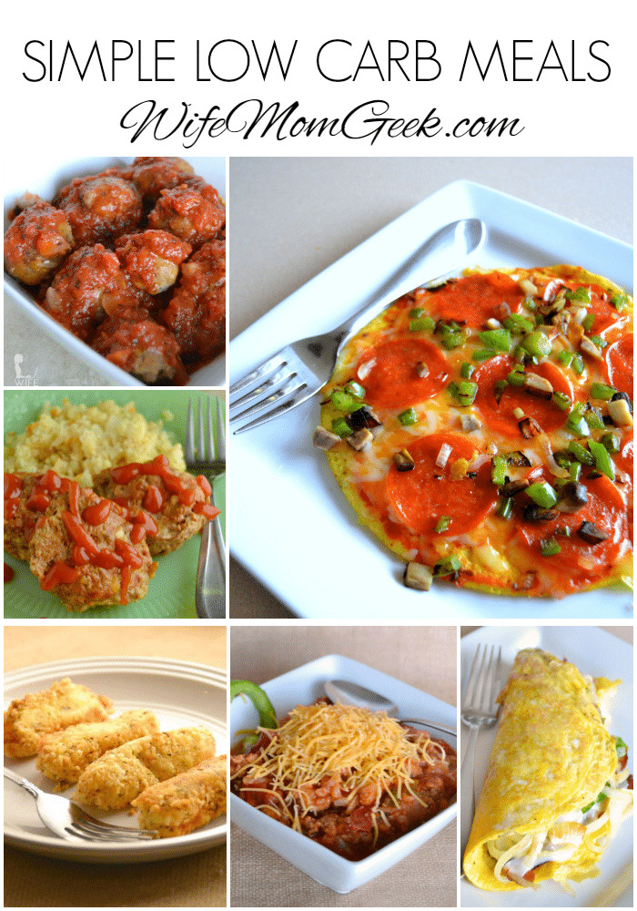 Low Carb Dinner  Simple Low Carb Meals